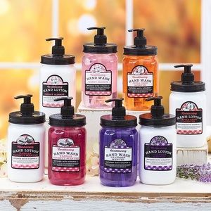 NWT! Mason Jar Lavender Soap/Lotion Gift Set